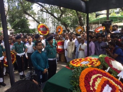 Golam Sarwar laid to rest; given state honour