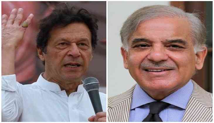 Imran, Shehbaz reach parliament to contest for Pakistan's top slot