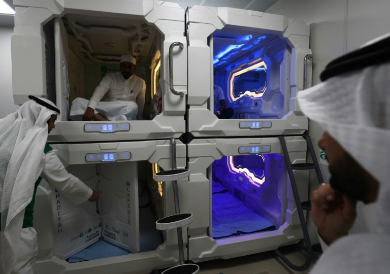 Saudi Arabia tests Japan-inspired 'nap pods' for hajj