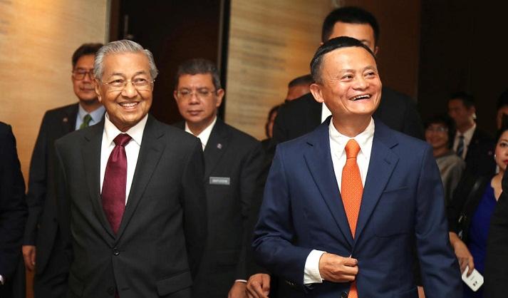 Malaysian leader Mahathir tours Alibaba, meets Jack Ma on China visit
