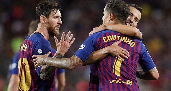 Messi, Coutinho get Barcelona off to winning start