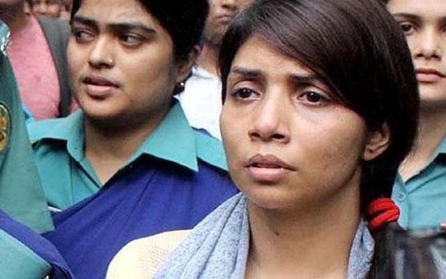Nawshaba denied bail,sent to jail