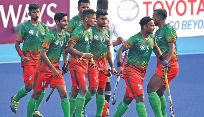 Bangladesh make strong  start in hockey
