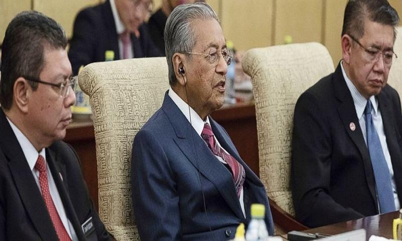 Malaysian PM Mahathir Mohammad says China-financed projects canceled