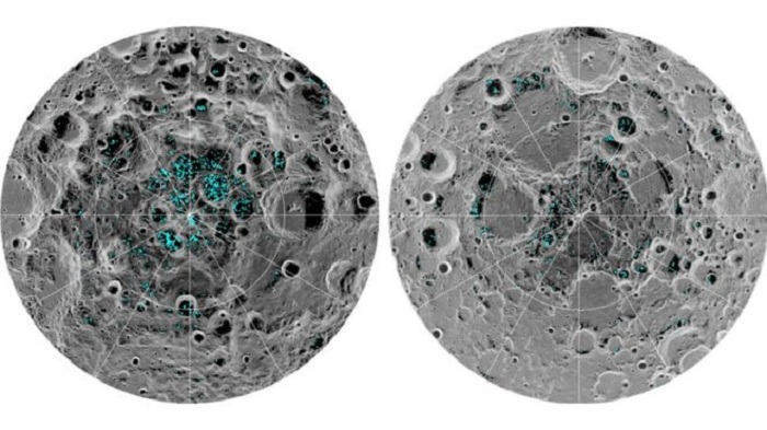Water ice 'detected on Moon's surface'