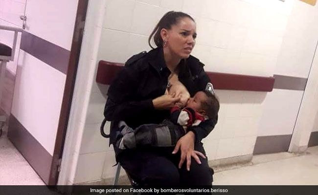 Argentinian cop who breastfed someone else's baby gets promoted