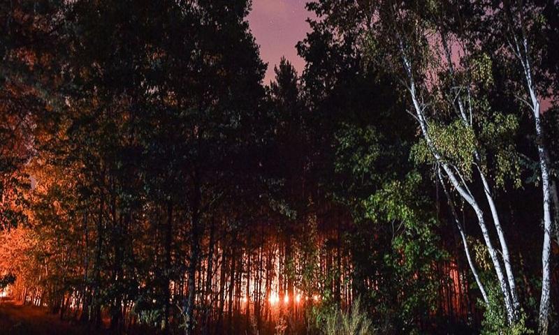 Huge wildfire spreads southwest of Berlin