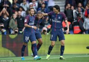 Mbappe, Neymar, Cavani all score in PSG's win over Anger