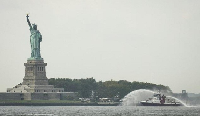 Fire forces brief Statue of Liberty evacuation