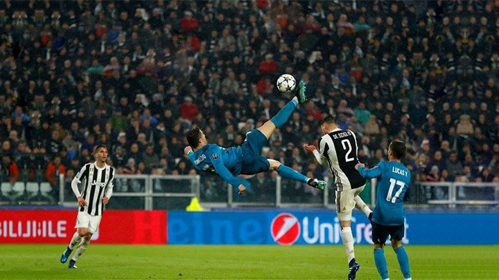 Ronaldo's 'bicycle kick' wins UEFA goal of season