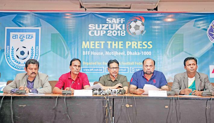 Bangabandhu Stadium gets ready for SAFF
