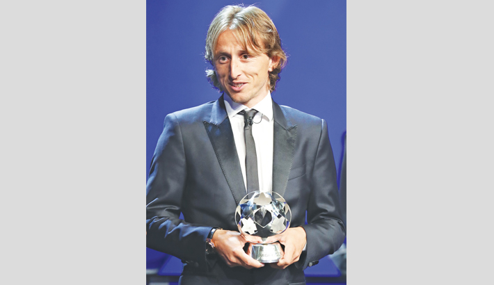 Luka Modric named UEFA player of year