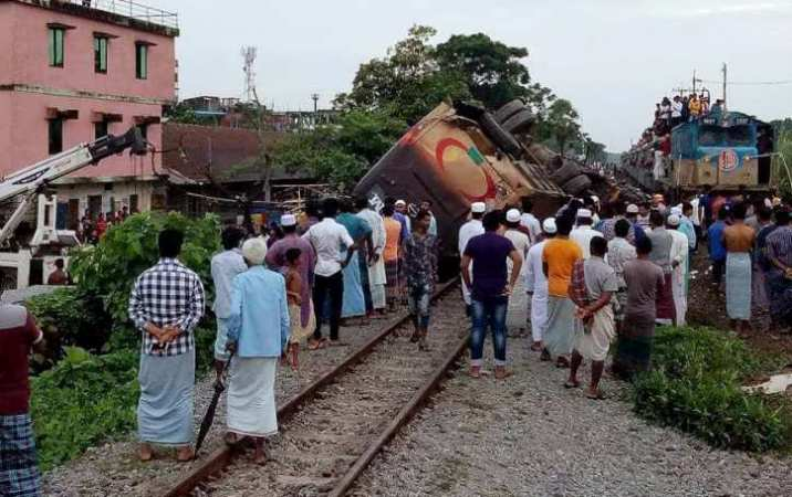 Two killed as train rams bus in Chattogram