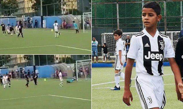 Ronaldo's son scores 4 goals for Juventus U-9