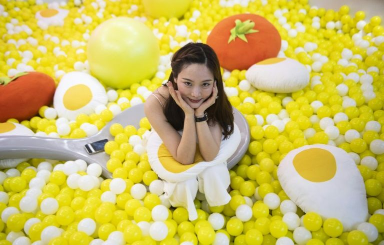 Shanghai exhibit draws egg-lovers and selfie-takers