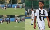Ronaldo's son scores 4 goals for Juventus U-9