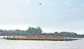A traditional boat race was held at Degreerchar Gudaraghat point