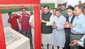 Shipping Minister Shajahan Khan lays the foundation stone