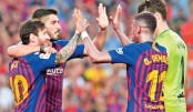 Messi, Suarez hit braces in 8-2 rout of Huesca