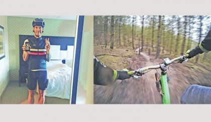 Tale of an avid cyclist