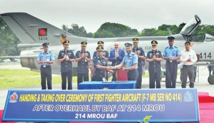 BAF-overhauled fighter aircraft handed over