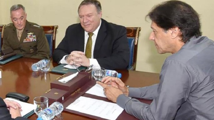Pompeo 'hopeful' after meeting with Pakistan's PM Imran Khan