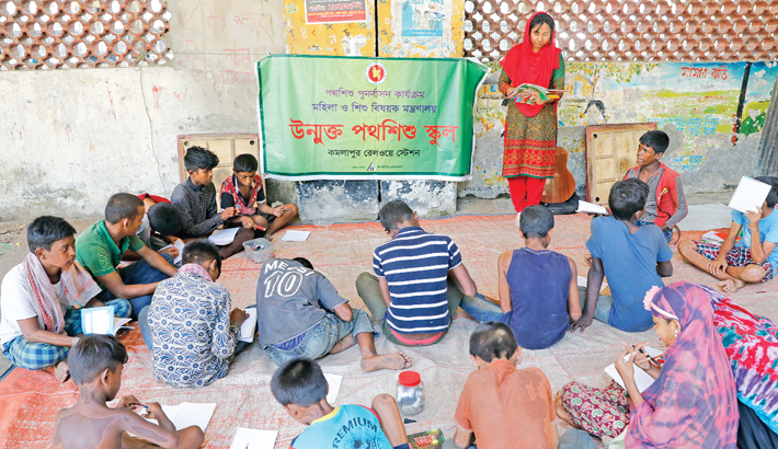 Open school offers a ray of hope for street children
