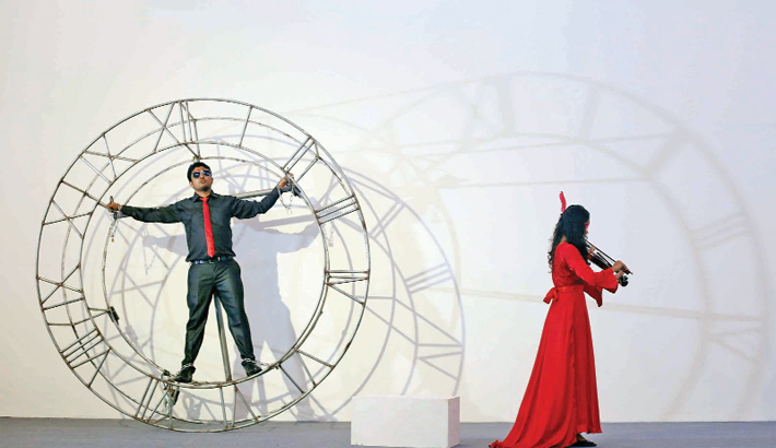 Performance Art Mesmerises Audience At 18th Asian Art Biennale