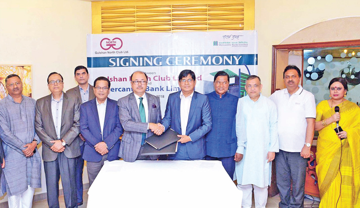 Mercantile Bank,  Gulshan North  Club ink deal