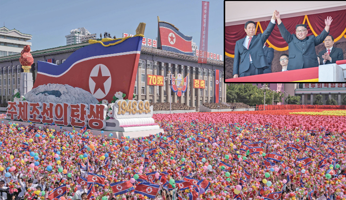 N Korea holds 70th anniv parade without displaying ICBMs