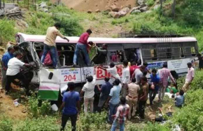 Bus crash in south India kills at least 45 people