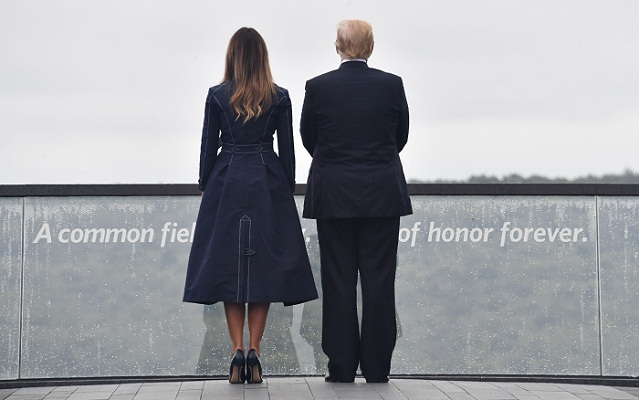Trump salutes 'heroes' of Flight 93 on 9/11 anniversary