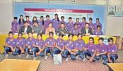 U-15 women's football team accorded grand reception