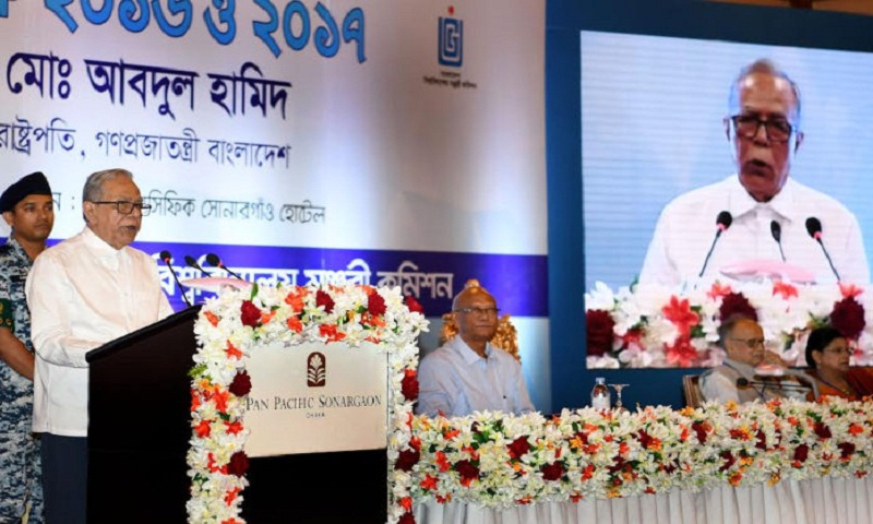 President asks UGC to ensure quality of higher education
