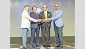 Receive the Superbrands award