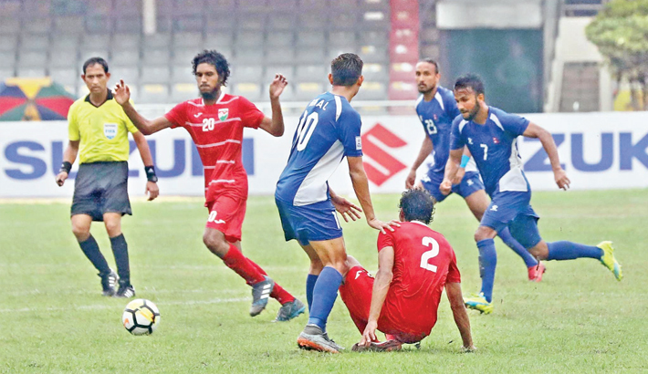 India, Maldives in SAFF final