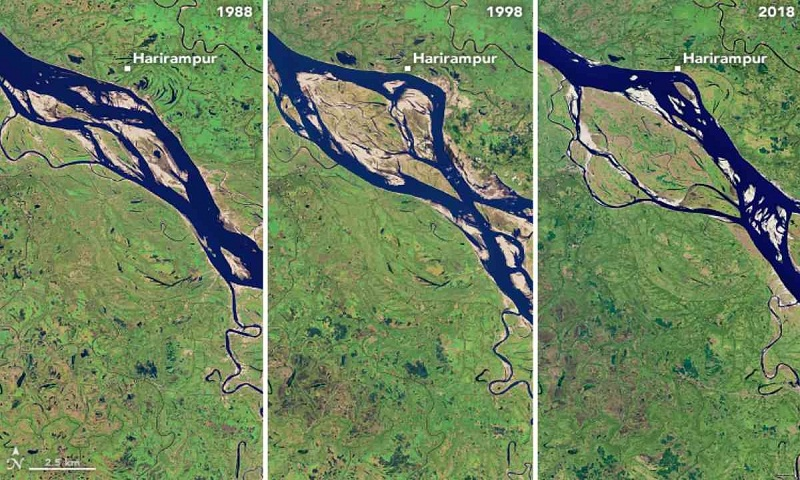 Over 66,000 hectares lost to Padma since 1967-NASA report