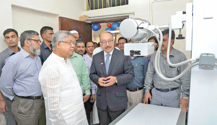 Ceremony marking the handing-over of machinery