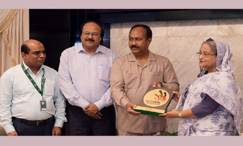 PM Sheikh Hasina unveils 'World Skills Bangladesh' logo