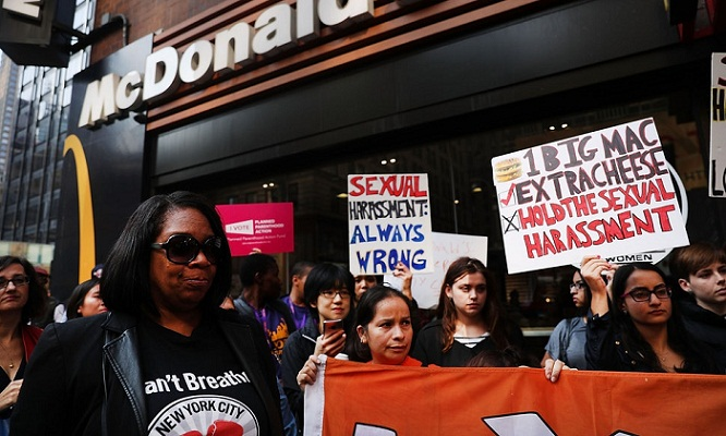 McDonald's workers in US cities strike over sexual harassment