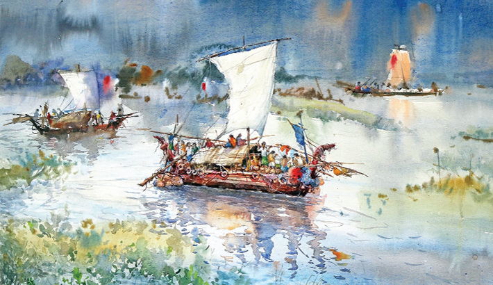 Paintings Depicting The Beauty Of Eternal Bangla