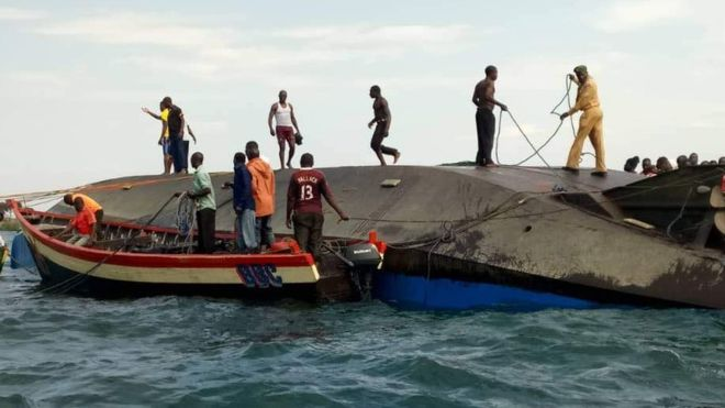 Lake Victoria Tanzania ferry disaster: Divers hunt for survivors