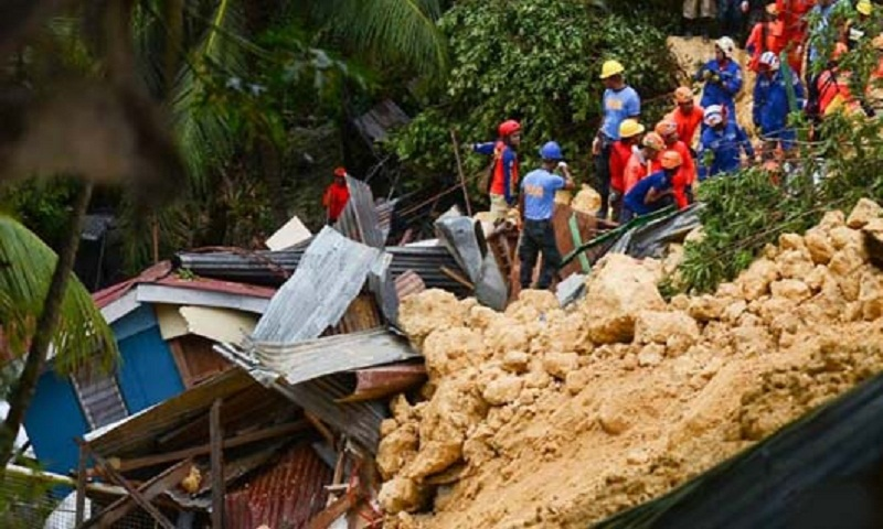Toll jumps to 22 in Philippine monsoon landslide