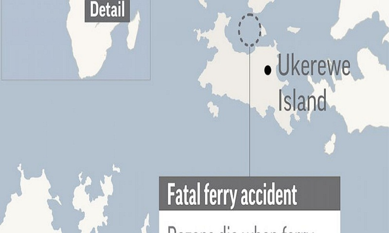44 dead as Tanzanian ferry capsizes on Lake Victoria
