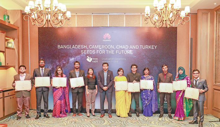 Bangladeshi students take part at China ICT event