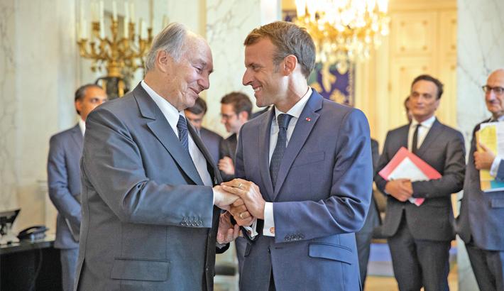 Aga Khan receives award from French president