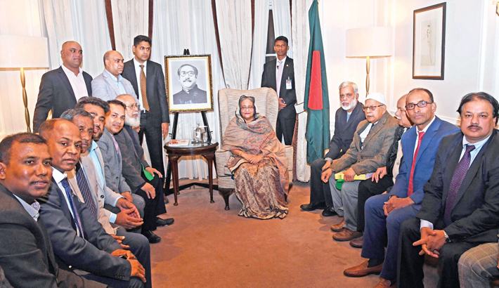 UK Awami League met Prime Minister Sheikh Hasina