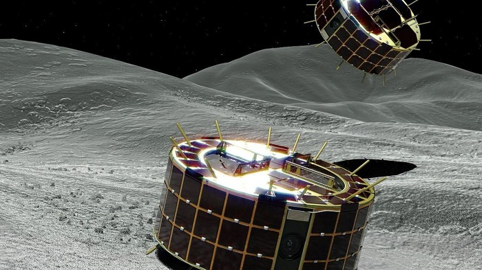 Japan's rovers send pictures from asteroid