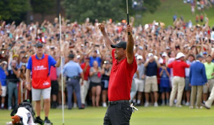 Tiger Woods wins Tour Championship for 80th PGA Tour title