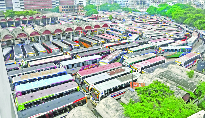 Bus services from Mohakhali terminal suspended